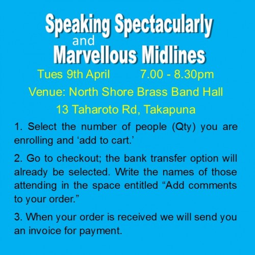 Workshop - Speaking Spectacularly & Marvellous Midlines