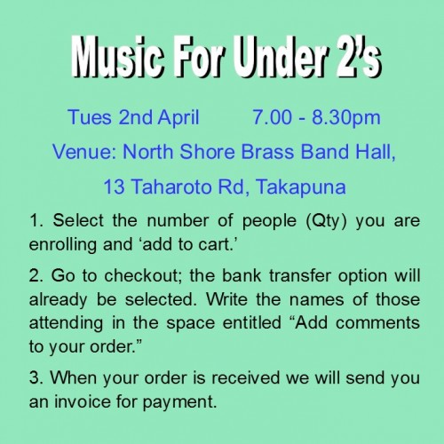 Workshop - Music for the Under 2's